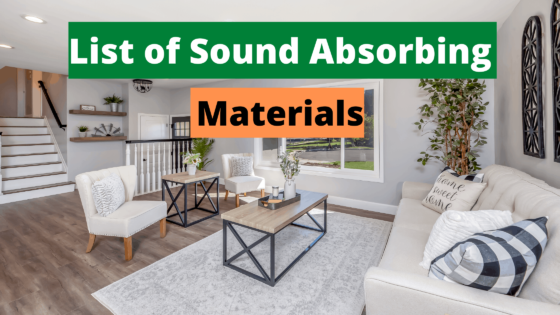 List of Sound Absorbing Materials